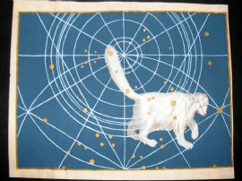 Bayer Uranometria 1661 Folio Hand Col Celestial Map. Ursa Minor 1